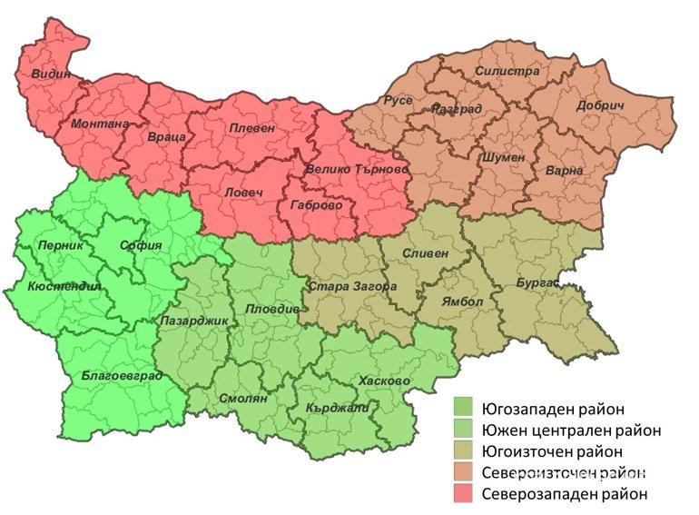 Novo Rajonirane She Promeni Kartata Na Blgariya Kozloduj Novini